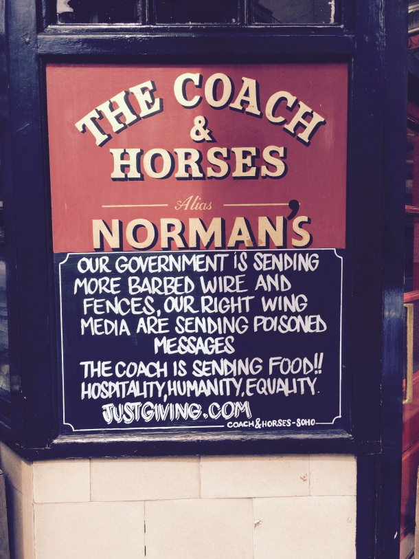 Coach and horses sign, Soho